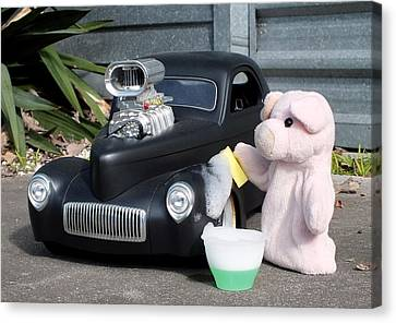 Sunday Afternoon Carwash Canvas Print by Piggy