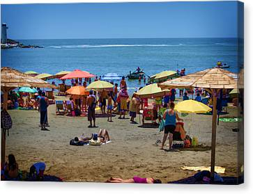 Sunday At The Beach - Barranco Canvas Print