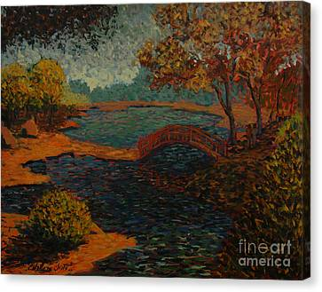 Sunday At The Park II Canvas Print by Monica Caballero