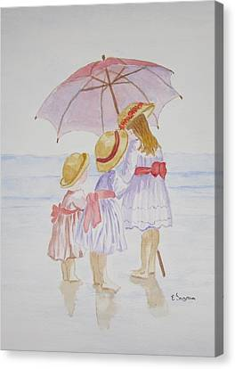 Sunday Best At The Beach Canvas Print