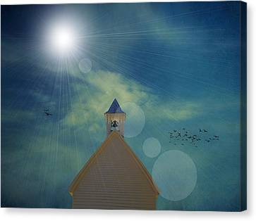 Sunday Church Service Canvas Print by Dan Sproul