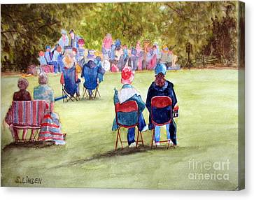 Sunday Concert Canvas Print by Sandy Linden