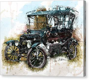 Sunday Driver Canvas Print by Gary Bodnar