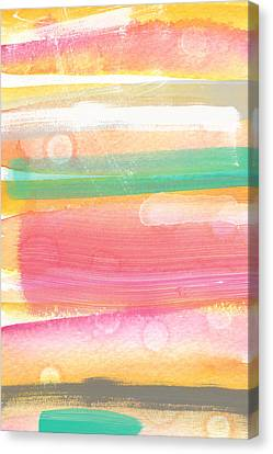 Sunday In The Park- Contemporary Abstract Painting Canvas Print by Linda Woods