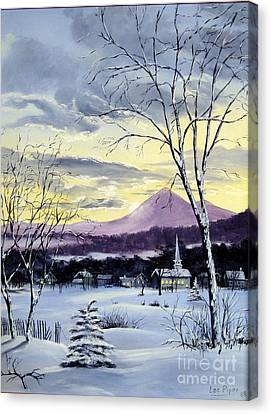 Sunday In Winter Canvas Print by Lee Piper