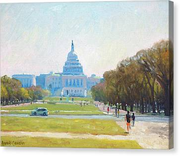 Sunday Morning At The Capitol Canvas Print