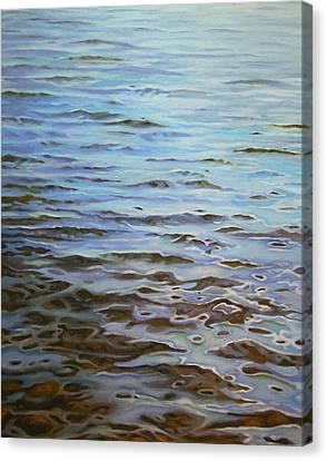 Sunday Morning Huntley Pond Canvas Print by Jason Sawtelle
