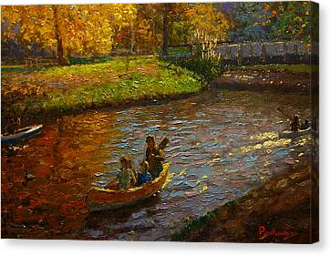 Sunday On Avon Canvas Print
