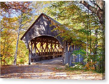 Sunday River Covered Bridge Canvas Print