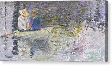 Sunday Sailors Canvas Print by Sandy Linden