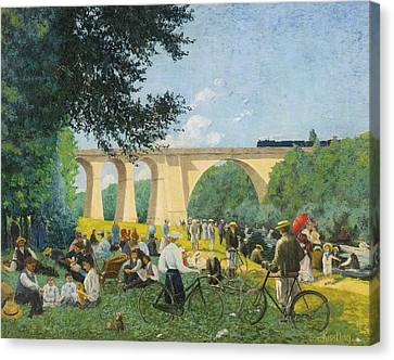 Sunday Summer At The Edge Of The Marne Canvas Print