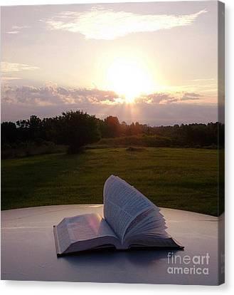 Sunday Sunrise Bible Study Canvas Print by Matthew Seufer