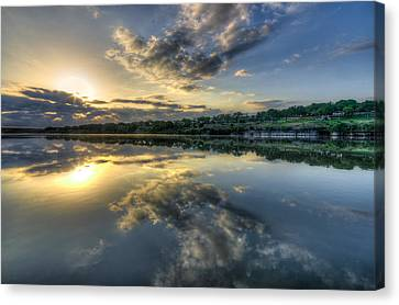 Sunday Sunrise Canvas Print by Jeffrey W Spencer