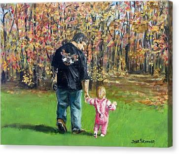 Sunday Walk With Dad Canvas Print