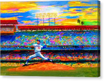 Pitcher Canvas Print - Sunday With Sandy by Alan Greene