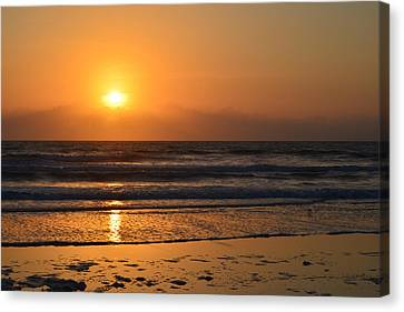 Canvas Print featuring the photograph Sundays Golden Sunrise by DigiArt Diaries by Vicky B Fuller