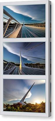 Sundial Bridge Triptych Canvas Print
