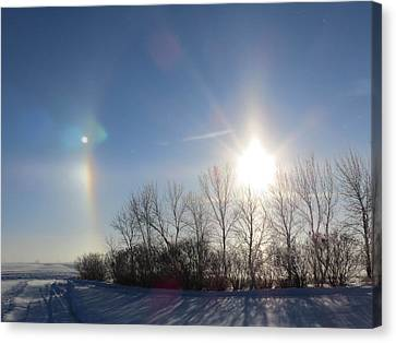 Sundog In North Dakota Canvas Print