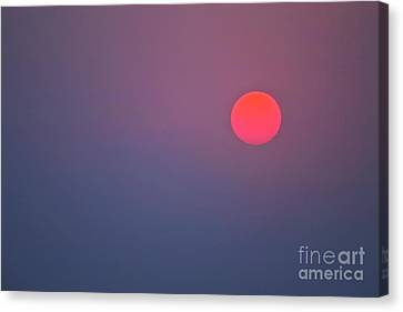 Sundown Canvas Print by Heiko Koehrer-Wagner