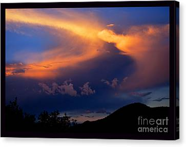 Sundown In The Canyon Canvas Print by Susanne Still