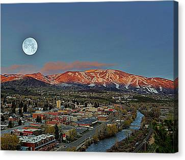 Sundown Moon Rise Canvas Print