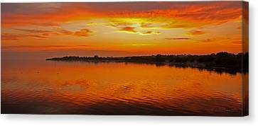Canvas Print featuring the photograph Sundown Near Jastarnia At Hel Penisula In Poland by Julis Simo