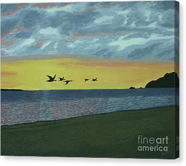Sundown On Lake Superior Canvas Print