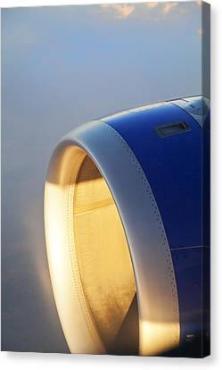Look Through Any Window Canvas Print - Sundown On The Jet Turbine by Kantilal Patel
