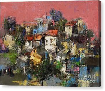 Canvas Print - Sundown Touches The Neighborhood by Grigor Malinov