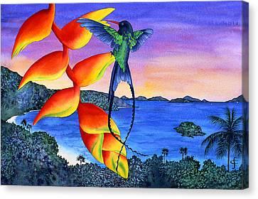 Sundowner At Cinnamon Canvas Print by Carolyn Steele