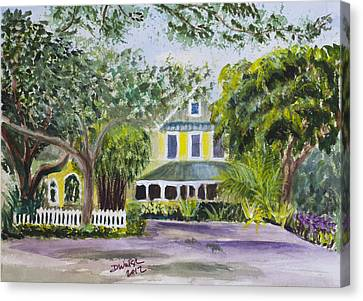 Sundy House In Delray Beach Canvas Print by Donna Walsh