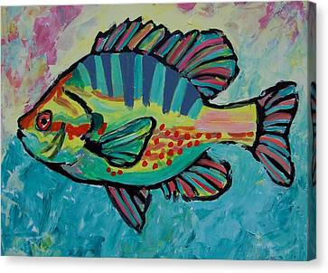 Canvas Print featuring the painting Sunfish by Krista Ouellette