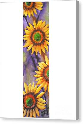 Canvas Print featuring the painting Sunflower Abstract  by Chrisann Ellis