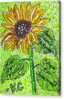 Sunflower Advice Canvas Print by Kathy Marrs Chandler