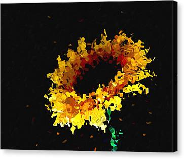Sunflower Canvas Print by Ann Powell