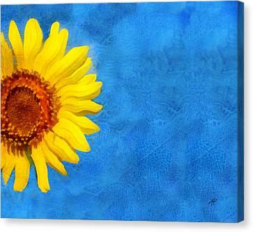 Sunflower Art Canvas Print by Ann Powell