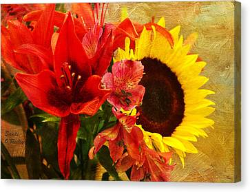 Sunflower Bouquet Canvas Print by Sandi OReilly