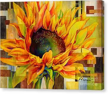 Sunflower Canopy Canvas Print by Hailey E Herrera