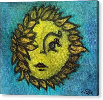 Sunflower Child Canvas Print by Natalie Roberts