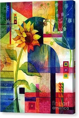 Sunflower Collage Canvas Print by Hailey E Herrera