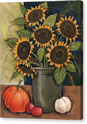 Sunflower Crock Canvas Print
