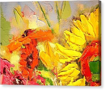 Sunflower Detail Canvas Print by Ana Maria Edulescu