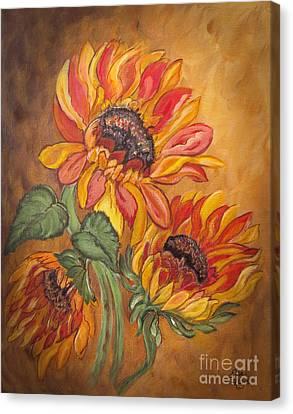 Sunflower Enchantment Canvas Print by Ella Kaye Dickey