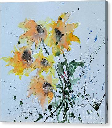 Sunflower- Flower Painting Canvas Print