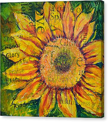 Sunflower Glory Canvas Print by Lisa Fiedler Jaworski