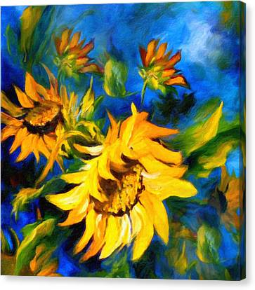 Sunflower Glory Canvas Print by Georgiana Romanovna