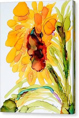 Sunflower Left Face Canvas Print