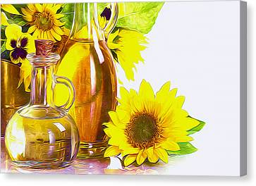 Sunflower Oil Canvas Print by Lanjee Chee