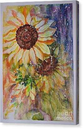 Sunflower Rain Canvas Print by Kathleen Pio