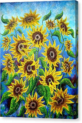 Dan Lafferty Canvas Print - Sunflower Reflections by Daniel Lafferty